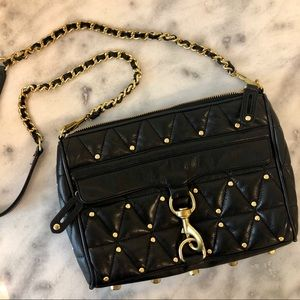 Rebecca Minkoff Studded Quilted MAC Bag in Black